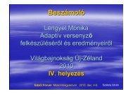 Lengyel Mónika női adaptív egypárevezős 2010. évi VB felkészítése