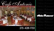Italian Restaurant Cafe Antonio Italian Restaurant Italian Restaurant ...