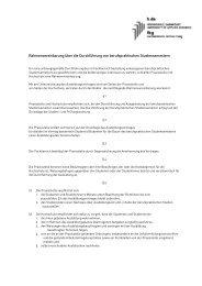 Rahmenvereinbarung über die Durchführung von Praxissemestern