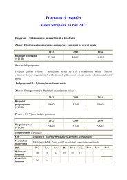 Programový rozpočet Mesta Stropkov na rok 2012 - Mesto Stropkov