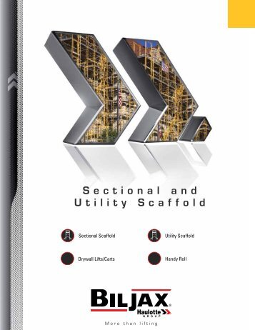 Sectional and Utility Scaffold Catalog - Bil-Jax