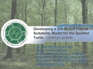 Developing a GIS Based Habitat Suitability Model for the Spotted ...