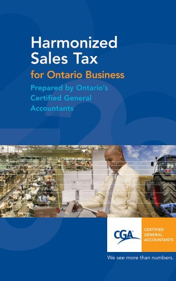 Harmonized Sales Tax - Certified General Accountants of Ontario