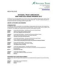 national trust announces nsw heritage award winners 2012