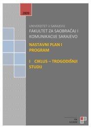 I ciklus studija - Fakultet za saobraćaj i komunikacije