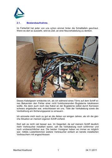 Teil 5 Verkabelung / Kabelkennzeichnung - Kavenga-Segeln.de