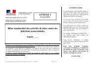 Bilan standardisé des activités de lutte contre les infections ... - ADIPh