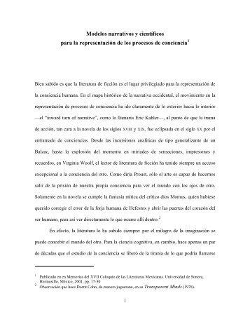 Modelos narrativos y científicos - Luz Aurora Pimentel