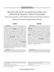 Reconstrução facial nos pacientes adultos com síndrome ... - ABCCMF