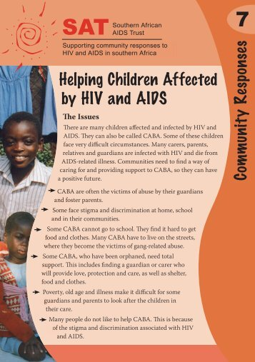 Helping Children Affected by HIV and AIDS - Southern African AIDS ...