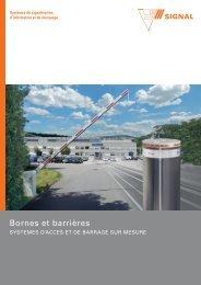 Bornes et barrières - Signal AG
