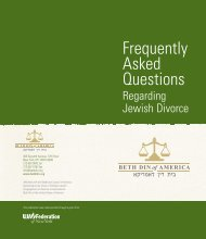 Frequently Asked Questions - Beth-Din of America