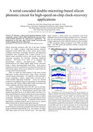 A serial-cascaded double-microring-based silicon photonic circuit ...