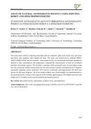 assay of natural antioxidants potency using pipeting robot and ...
