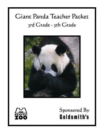 Giant Panda Teacher Packet - Memphis Zoo