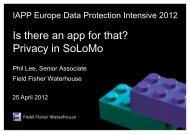 Is there an app for that? Privacy in SoLoMo