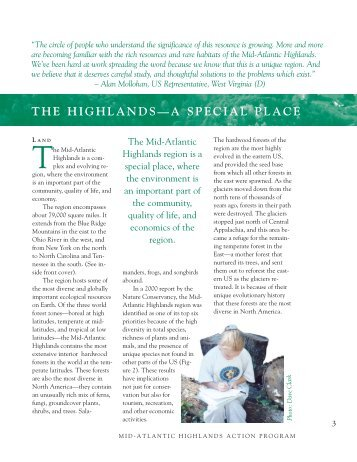Highlands, A Special Place - Canaan Valley Institute