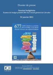 Dossier de presse budget 2011 du conseil général du Calvados