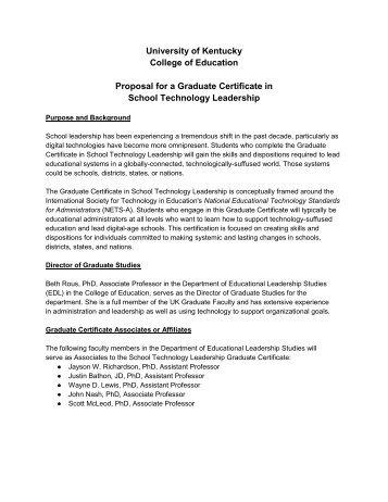 Grad Certificate in School Technology Leadership - University of ...