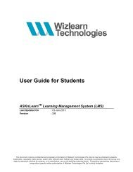 Student's Guide - ASKnLearn - Wizlearn Technologies
