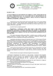 Dipartimento di Fisica Sperimentale - Università degli Studi di Torino