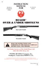 RUGER® OVER & UNDER SHOTGUNS