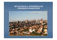 BPC na Escola: Experiência de Presidente Prudente/SP