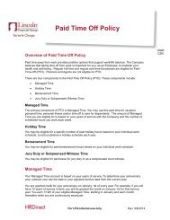 Paid Time Off Policy