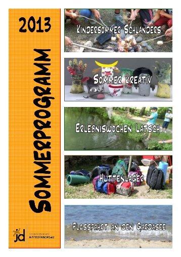 Sommerprogramm (Broschüre) A4 de. und it. 2013 Endversion