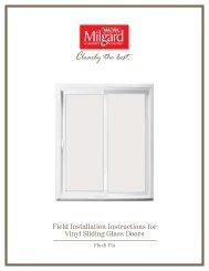 Field Installation Instructions for Vinyl Sliding Glass Doors