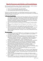 Tipps für Pressewarte zum Schreiben vom Pressemitteilungen