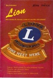Slovenski Lion, maj 1996 - Lions Distrikt 129