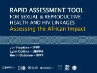 RAPID ASSESSMENT TOOL - Integration for Impact