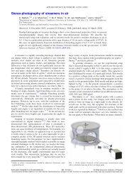 Stereo-photography of streamers in air - Centrum voor Wiskunde en ...