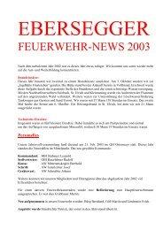 FEUERWEHR-NEWS 2003 - Seniorenbund Steyr Land