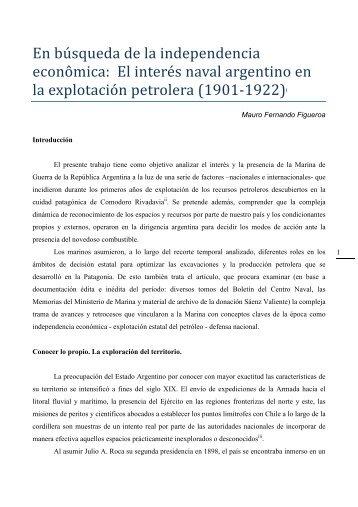82- En búsqueda de la independencia econômica El interés naval ...