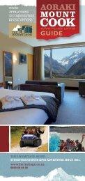 Aoraki Mount Cook Alpine Village Guide 2013 ... - Hermitage Hotel