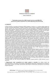 Programma di ricerca per il 2008 [file .pdf] - Sardegna Agricoltura