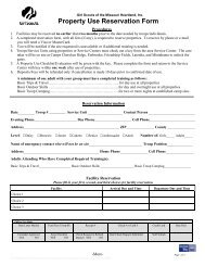 GSMH Property Use Reservation Form FINAL Rev. 3-12-09