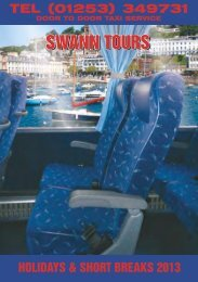 holiday list - swann tours