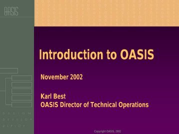 Introduction to OASIS - oasis pki