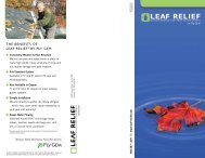 The BenefiTs of LeAf ReLief® BY PLY GeM - Alpine Gutters ...