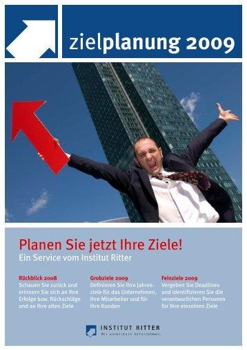 Planungshilfe für Ihre Ziele 2009 (als PDF-Datei) - Steffen Ritter - Blog
