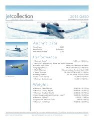 2014 G650 Aircraft Data Performance Weights - Business Air Today