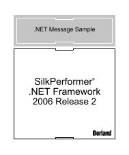 The Message Sample - Borland Technical Publications