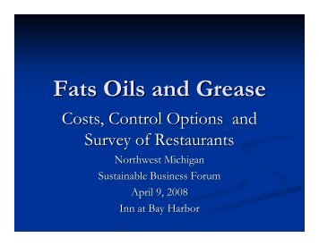 Fats, Oils, and Grease: Costs, Control Options ... - www.NWM.org