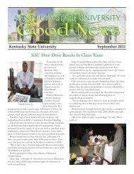 KSU Shoe Drive Results In Clean Water