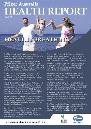 Pfizer Australia Health Report - Healthy Breathing - Lung Foundation
