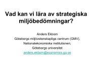 Vad kan vi lära av strategiska miljöbedömningar?