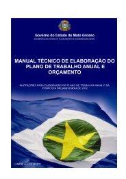 Manual PTA/LOA 2012 - Governo do Estado de Mato Grosso